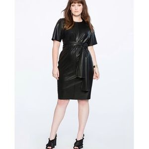 ELOQUII Leather Like Dress